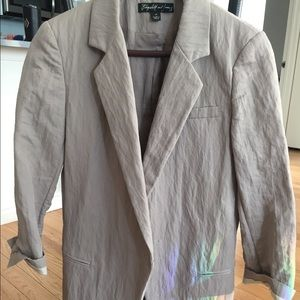 Elizabeth and James Linen fitted blazer